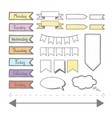 sticker set for planner vector image vector image