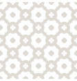 subtle white and beige geometric seamless pattern vector image vector image