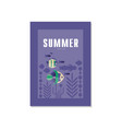 summer tropical banner template trendy seasonal vector image vector image