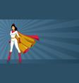 superheroine asian ray light vector image vector image