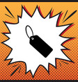 tag sign comics style icon vector image vector image