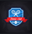 tennis logo badge design templat vector image
