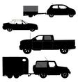 Transportation icons collection car silhouettes vector image vector image