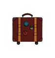 Travel suitcase isolated vector image