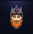 vikig warrior design vector image