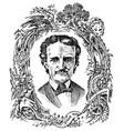 vintage portrait a man albert camus vector image vector image