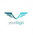 wing emblem company logo vector image vector image
