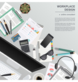 Workspace of the online consultant Mock up for vector image