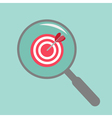 Magnifier and target Flat design style vector image