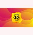 20 percent discount sign icon sale symbol vector image