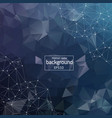 abstract dark blue geometric polygonal background vector image vector image