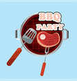 bbq party meat on the grill background imag vector image vector image