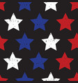 blue red stars on black seamless background vector image