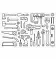 building tools icons vector image vector image