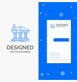 business logo for architecture bank banking vector image vector image