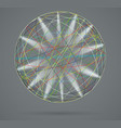 colorful sphere with rays of light vector image vector image