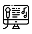 computer screen internet online karaoke vector image vector image