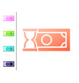 coral fast payments icon isolated on white vector image vector image