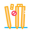 cricket equipment icon outline vector image
