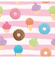 Cute seamless pattern with sweets vector image