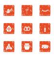 decoration religion icons set grunge style vector image