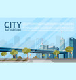 drawing image of the city landscape vector image vector image