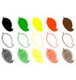 elm leaf color set vector image vector image