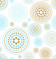 fabric circles abstract seamless pattern vector image vector image