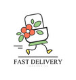 fast delivery logo design creative template for vector image vector image