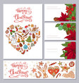 festive templates with different traditional vector image vector image