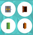 flat icon approach set of entry frame approach vector image vector image