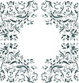 floral swirl border for your design vector image vector image