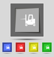 Forklift icon sign on original five colored vector image