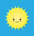 funny sun icon isolated on white background flat vector image