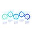 gears infographics cogwheels transmission vector image