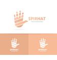 hand logo combination arm symbol vector image vector image