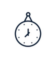 hanging time clock linear design vector image