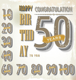 Happy birthday retro sign collection vector image vector image
