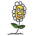 happy flower vector image