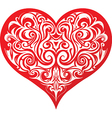 Heart with abstract patttern vector image vector image