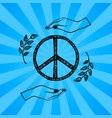 international peace day blue vector image vector image