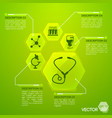 medicine and health green poster vector image vector image
