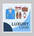 mens fashion blog social media posts mockup vector image