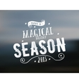 Merry Christmas lettering Magical season Wishes vector image vector image