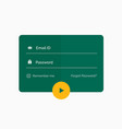 Modern flat green login form ui template design