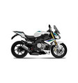 motorcycle side view vector image vector image