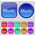 music sign icon Karaoke symbol Set of colored vector image vector image