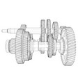 outline gearbox concept vector image