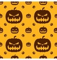 Pumpkin for Halloween Seamless pattern vector image