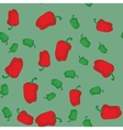 Red and green pepper seamless texture 611 vector image vector image